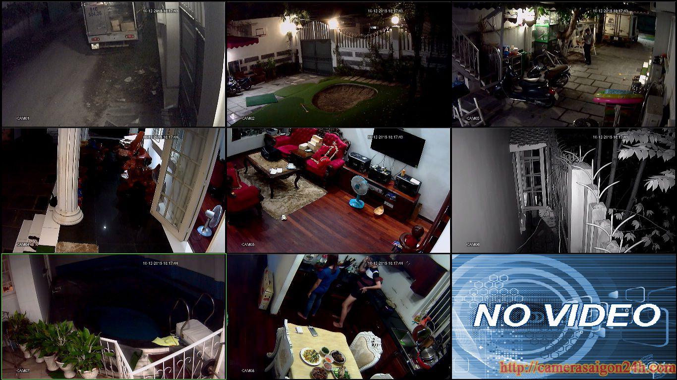 lắp đặt camera giám sát tại nhà riêng biệc thự quận tân bình