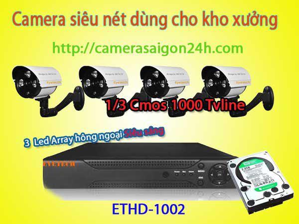 camera eyetech,Bộ camera quan sát chuyên nghiệp giá rẻ, camera eyetech ET-1002,camera độ phân giải cao