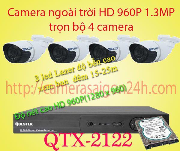 camera quan sát ngoài trời độ nét cao QTX-2122AHD