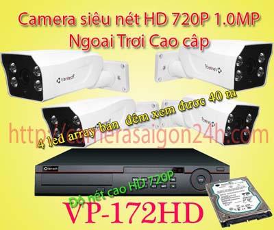 Lắp đặt camera quan sát giá rẻ camera giám sát ngoài trời cao cấp VP-172AHD