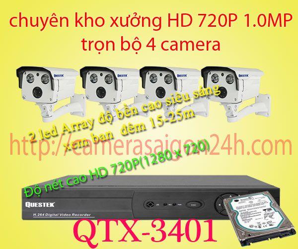 camera kho xưởng,camera chuyên dụng cho kho xưởng,QTX-3401AHD