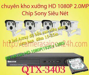 Lắp đặt camera quan sát giá rẻ camera giám sát sieu nét FULL HD 1080P QTX-3403QTX