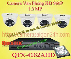Lắp đặt camera quan sát giá rẻ Bộ camera quan sát văn phòng HD qtx-4162AHD