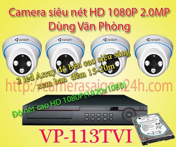 camera quan sát Full HD 1080P Trong nhà,VP-113TVI,VPS-463TVI