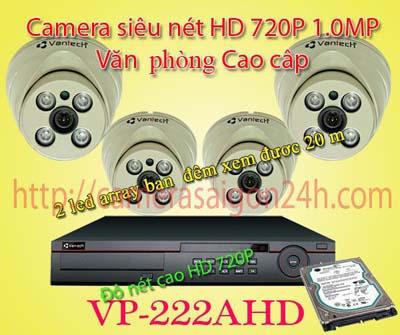 Lắp đặt camera quan sát giá rẻ camera giám sát trong nhà cao cấp VP-222AHDM