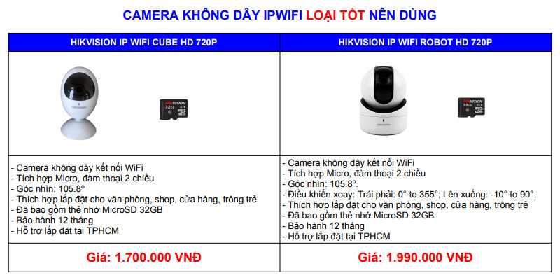 Công ty lắp camera wifi chính hãng
