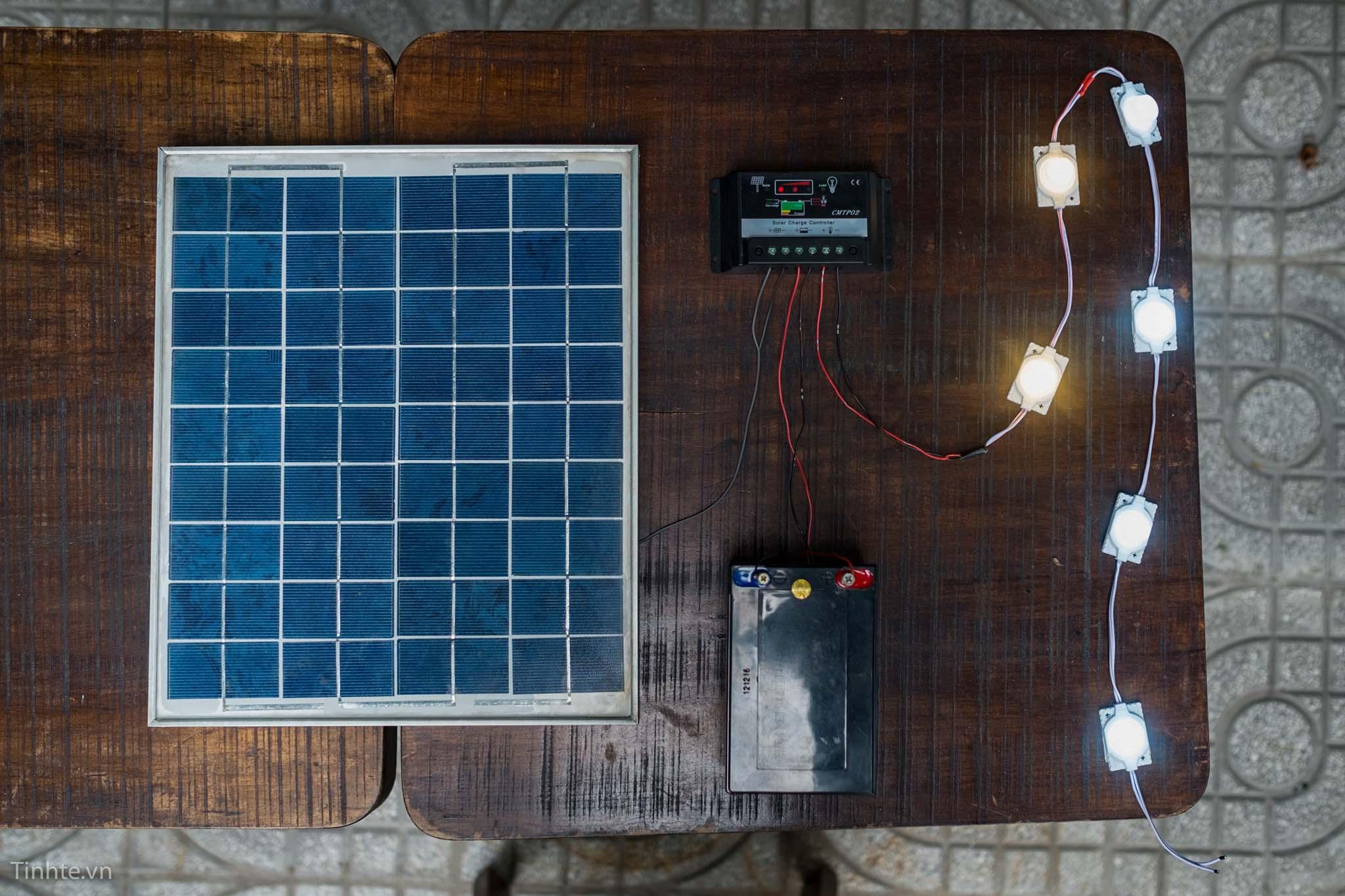 thật đơn giản hệ thống đã hoặt động hoàn thiện camera năng lượng mặt trời