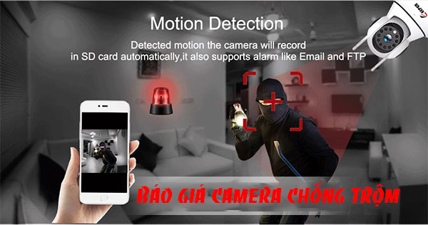 lắp camera báo động chống trộm qua điện thoại ổn định