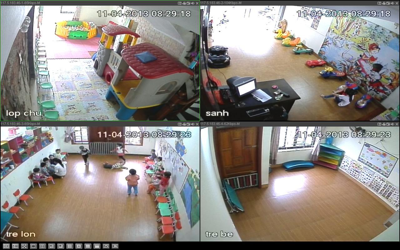 lắp đặt camera quan sát wifi giám sát trông trẻ