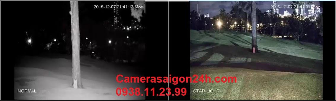 camera starlight có màu ban đêm