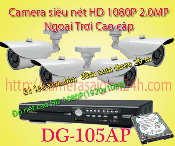 Lắp đặt camera quan sát giá rẻ Bộ camera siêu net ngoài trơi FULL HD 1080P Hàng Nhập Nguyên