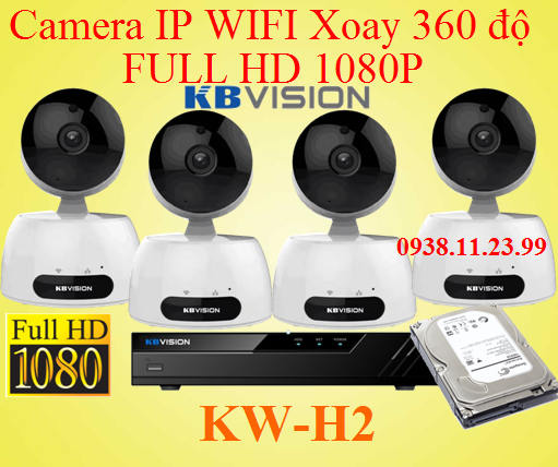 Lắp camera IP WIFI xoay 360 độ FULL HD , camera ip wifi , KW-H2 , h2 , camera KX-H2 camera xoay 360, lắp camera xoay 360