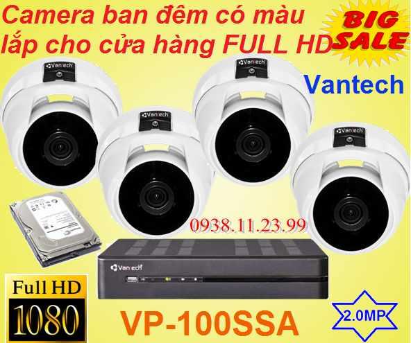 Camera ban đêm có màu lắp cho cửa hàng FULL HD , camera ban đêm có màu full hd , VP-100SSA , camera cửa hàng có màu ban đêm , cmaera giá rẻ , camera chất lượng
