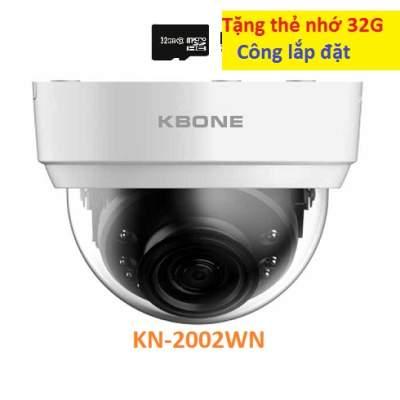 Camera IP KBONE Dome KN-2002WN Có độ phân giải 2MP Ful HD, Là mẫu camera IP WIFI không dây của KBvision, Hỗ trợ phát hiện người và chuyển động sau đó phát đi báo động, Ghi hình độ phân giải cao kết hợp ghi âm với góc rộng cố định, Quan sát có màu hoặc hồng ngoại, Hỗ trợ ghi hình và ghi âm , Hỗ trợ P2P và chuẩn nén H.265