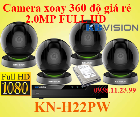 Lắp camera xoay 360 độ giá rẻ , camera xoay 360 độ , camera KN-H22PW , KN-H22PW , H22PW