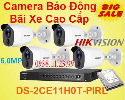 Lắp Camera Báo Động Bãi Xe Cao Cấp , Camera Báo Động Bãi Xe Cao Cấp , Camera Báo Động , camera bãi xe , DS-2CE11H0T-PIRL ,DS-2CE11H0T