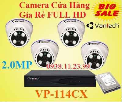 Lắp camera cửa hàng giá rẻ , Camera VP-114CX , VP-114CX , 114CX , camera giá rẻ