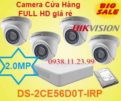 lắp camera quan sát cửa hàng giá rẻ hikvision