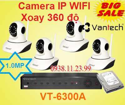 Bộ Camera Xoay 360 độ Dành Cho Cửa Hàng , vantech xoay 360 do , camera quan sat cua hang , camera robot