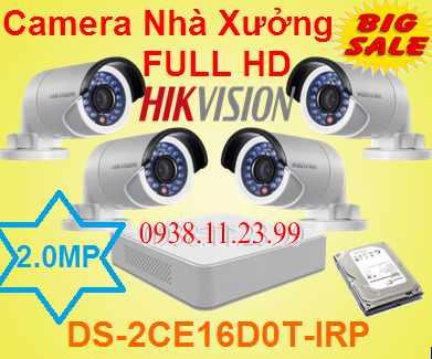 camera nhà xưởng, camera quan sát nhà xưởng,Camera Hikvision DS-2CE16DOT-IRP cho nhà xưởng , DS-2CE16DOT-IRP  , camera quan sát nhà xưởng full hd