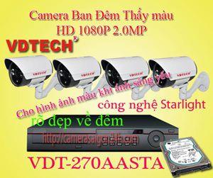 Lắp đặt camera quan sát giá rẻ camera quan sát ban đêm thấy màu FULL HD
