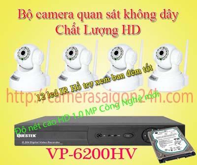 Lắp đặt camera quan sát giá rẻ Bộ camera giám sát không dây