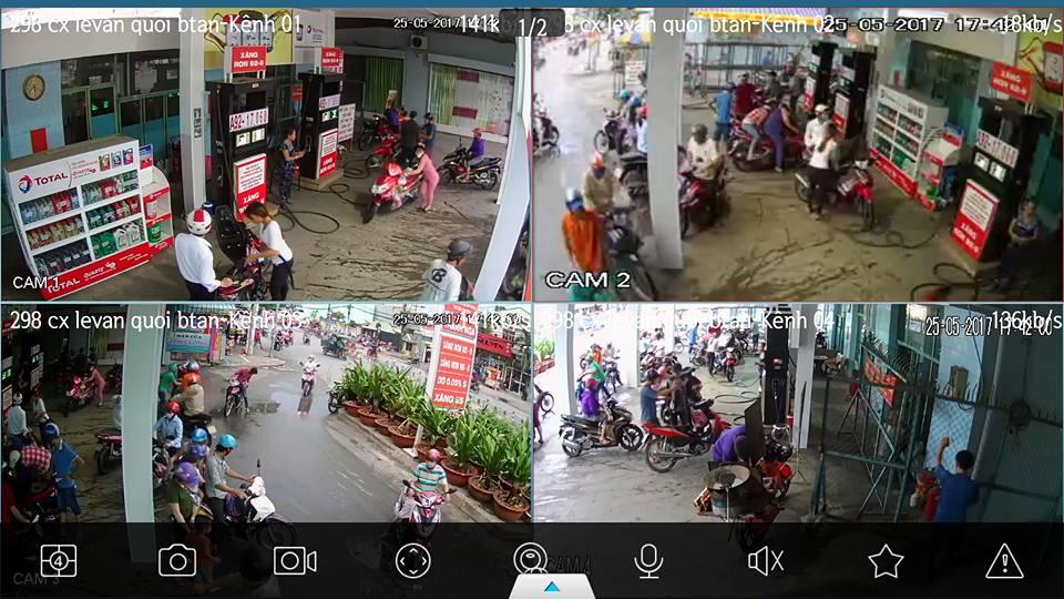 công trình lắp đặt camera quan sát ở quận 2