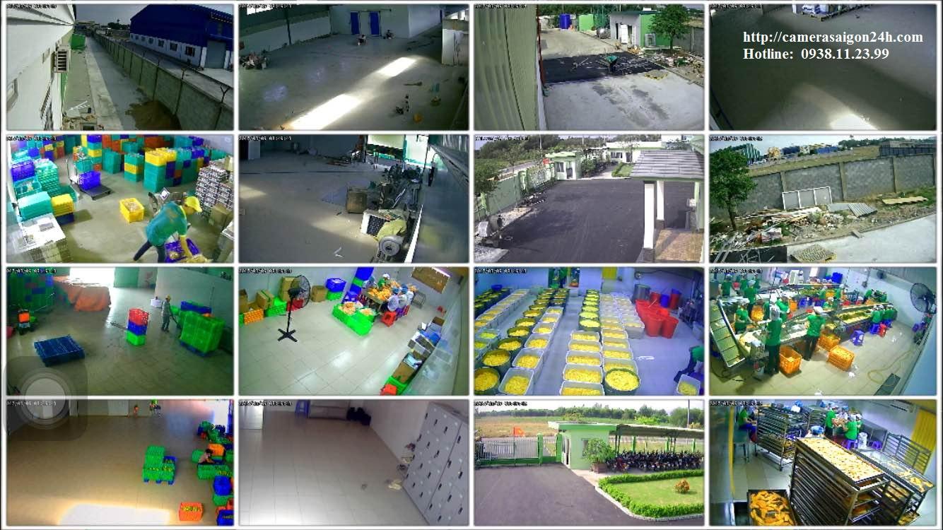lắp đặt camera quan sát samsung cho xưởng sản xuất thực phẩm
