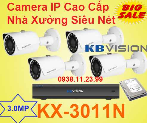 lắp camera quan sát IP Cao Cấp Nhà Xưởng Siêu Nét , Camera IP cao cấp , camera IP nhà xưởng , camera IP , KX-3011N    , 3011N