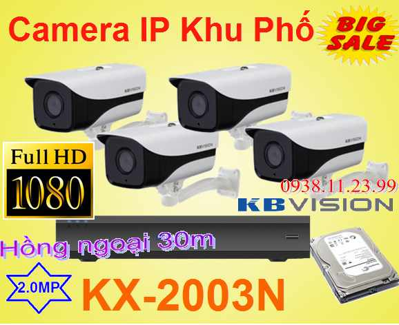 lắp camera quan sát khu phố,Lắp Camera IP Khu Phố FULL HD , camera ip full hd , camera ngoài troi full hd , camera khu phố , KX-2003N , 2003N
