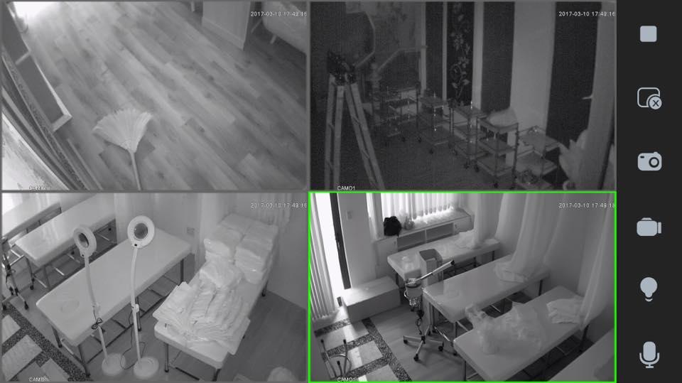 camera ip quan sát ban đêm khi lắp đặt xong