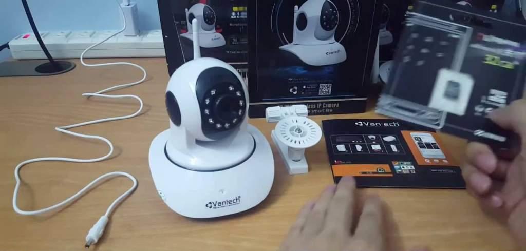 lắp camera quan sát ip wifi 6300 vantech chất lượng phù hợp cho gia đình