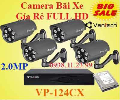 Lắp camera Bãi Xe Gía Xe , camera bãi xe , camera quan sát xe , camera VP-124CX , VP-124CX ,