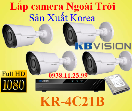 Camera Ngoài Trời Full HD Made in Kore , KBVISION KR-4C21B ,KR-4C21B