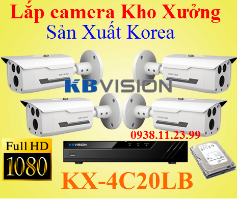 Camera Chuyên Dụng Cho Nhà Xưởng Made in Korea, KBVISION KR-4C20LB, KR-4C20LB