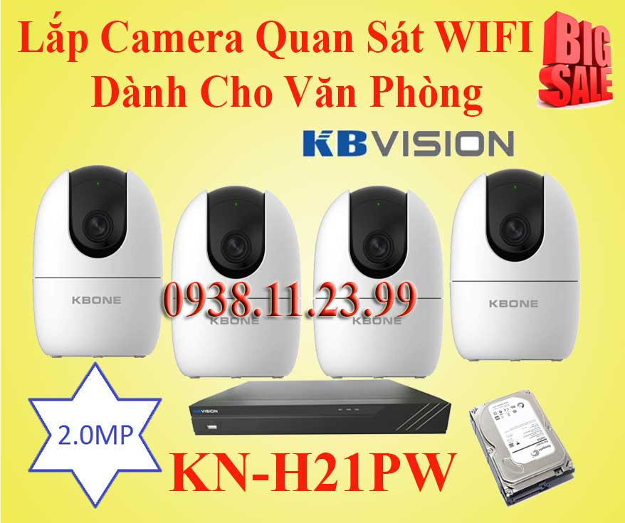 Lắp đặt camera Lắp Đặt Camera Quan Sát WIFI Dành Cho Văn Phòng
