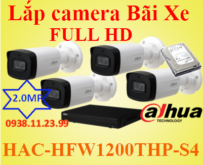 Lắp camera Bãi Xe FULL HD , lắp camera bãi xe, camera giám sát bãi xe, camera bãi xe,HAC-HFW1200THP-S4 , HAC-HFW1200THP , HAC-HFW1200 , HFW1200THP-S4 ,1200THP-S4