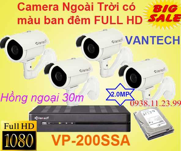 Camera Ngoài Trời có màu ban đêm FULL HD , camera ngoài trời full hd , camera ngoài trời có mảu ban đêm , VP-200SSA , camera chất lượng , camera giá rẻ