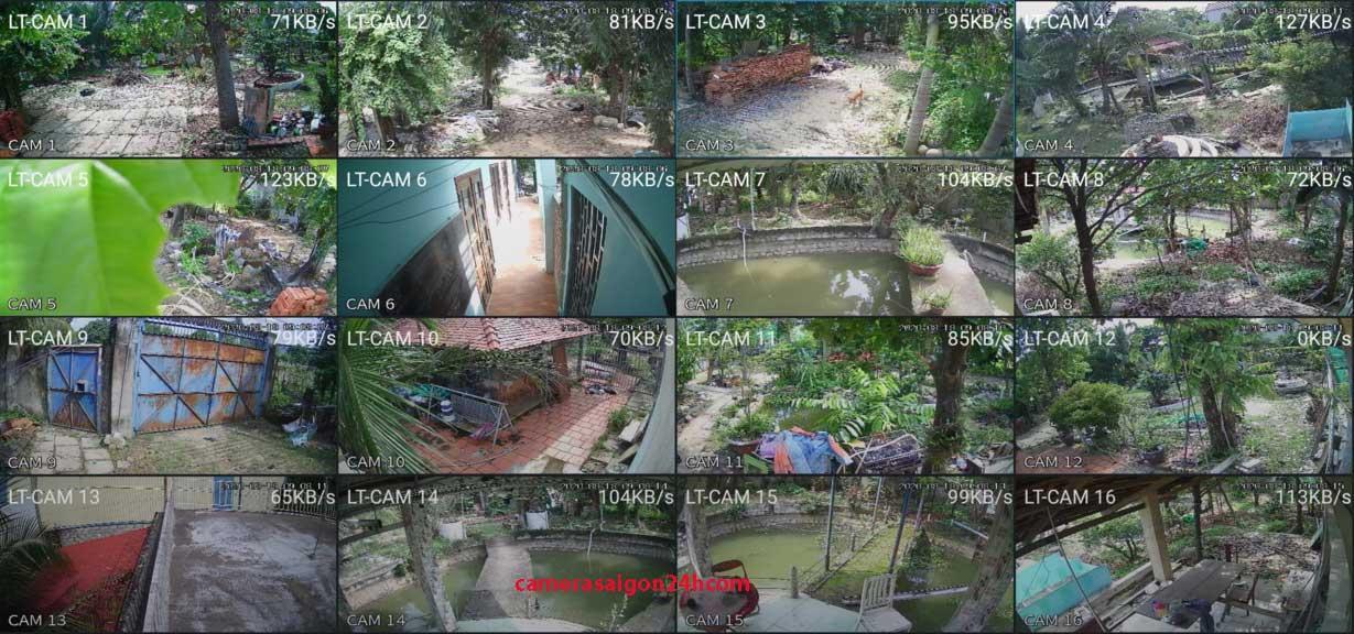 hình ảnh lắp đặ camera quan sát cho biệt thự