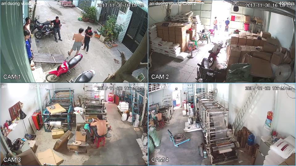 hình ảnh lắp đặt camera quan sát ở quận 4