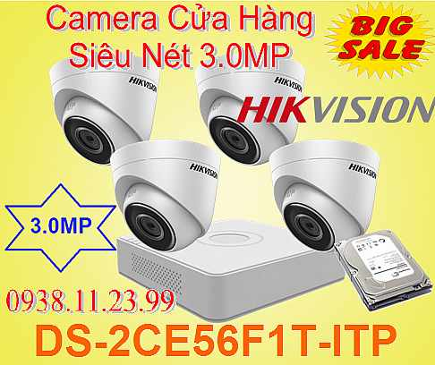 DS-2CE56F1T-ITP , DS-2CE56F1T , 2CE56F1T , camera văn phòng , bộ camera gia re , camera gia re , camera chất luong