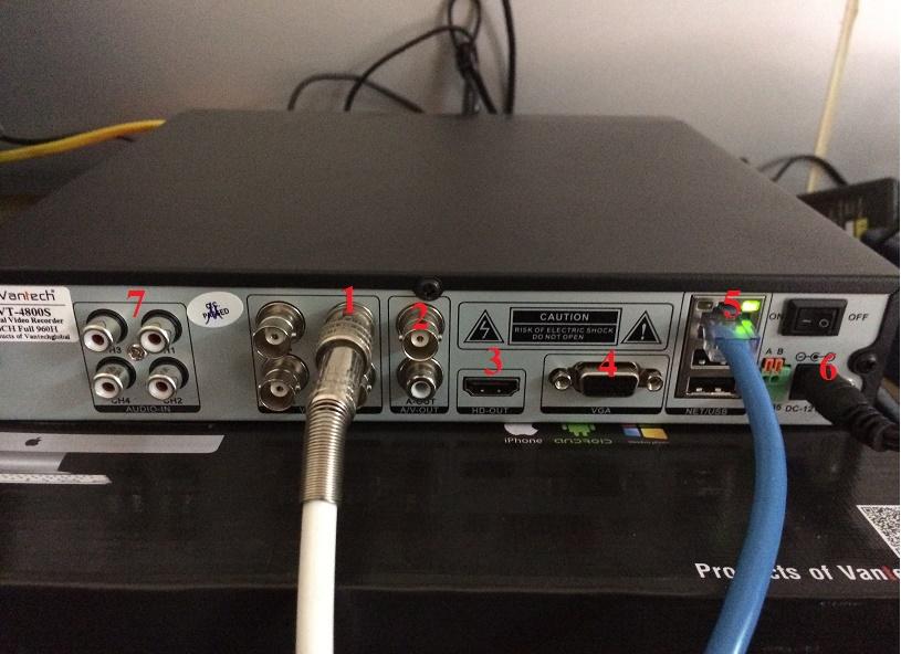đấu dây tín hiệu camera giám sát vào đầu ghi hình camera giám sát