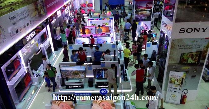 Lắp camera quan sát cho siêu thị điện máy