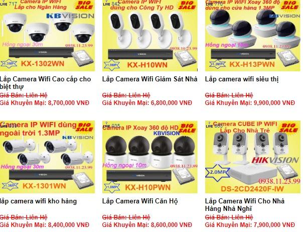 Báo giá lắp camera wifi tại quận 7 cho công ty