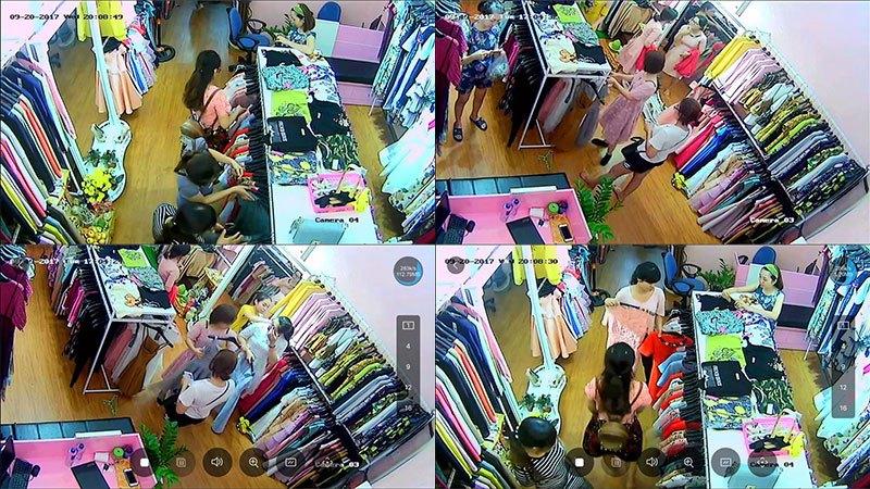 lắp đặt camera  quan sát starlihgt dành cho shop