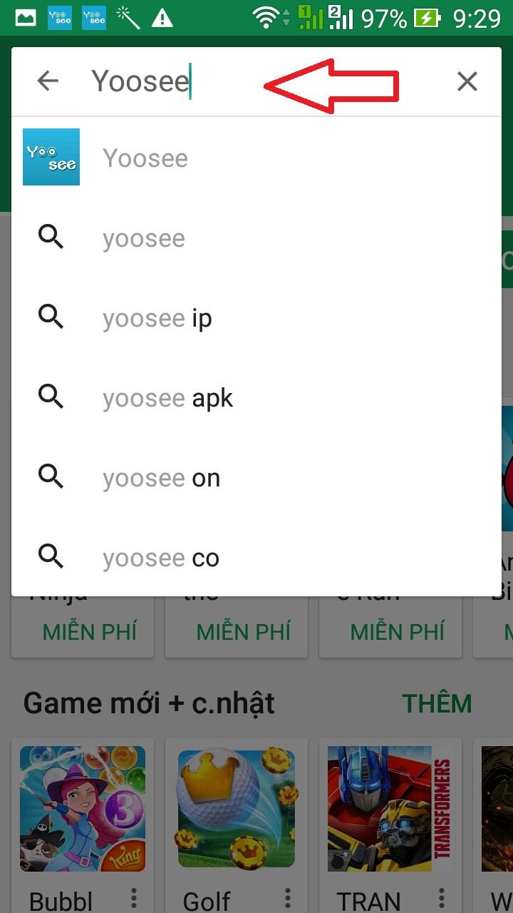 cài đặt camera ip yoosee wifi trên điện thoại