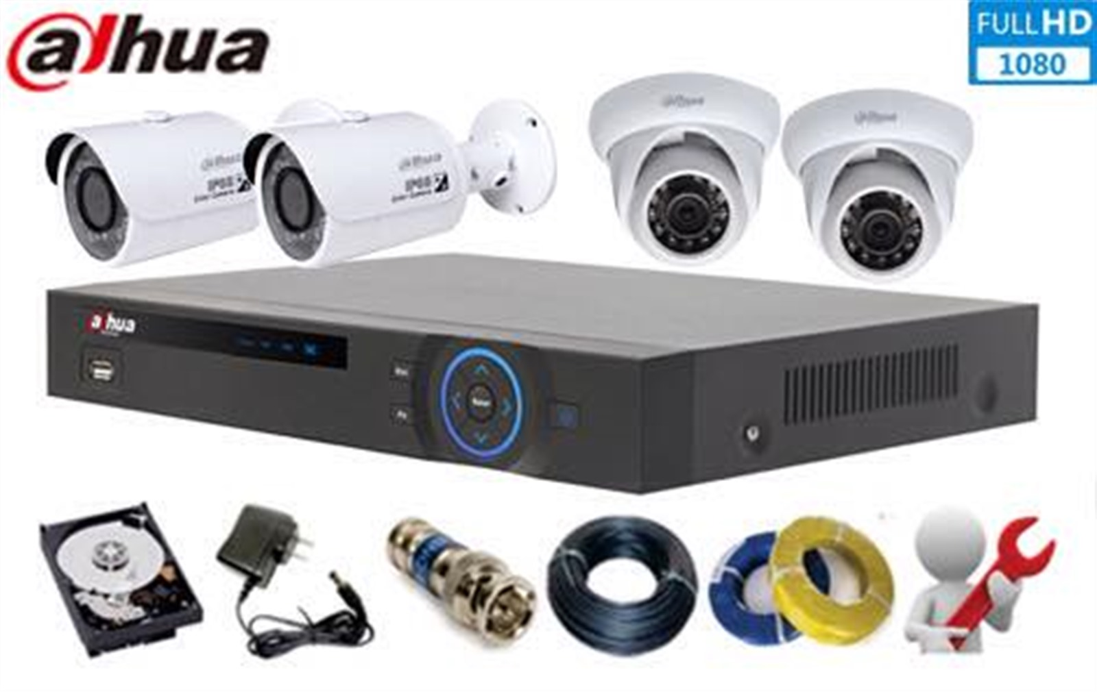 Lắp đặt camera quan sát thương hiệu Dahua