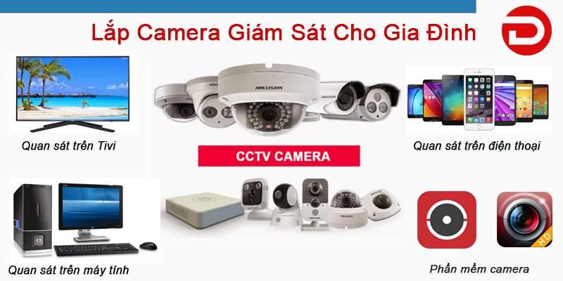 lắp đặt camera giám sát gia đình giá rẻ chính hãng
