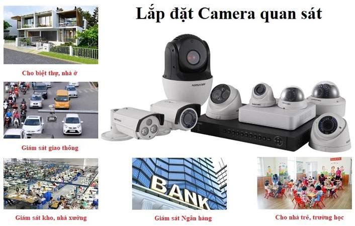 Thi công lắp đặt camera quan sát tại Bình Thạnh trọn gói giá rẻ, camera quan sát 100% chính hãng, bảo hành 2 năm với các thương hiệu KBVISION USA chất lượng