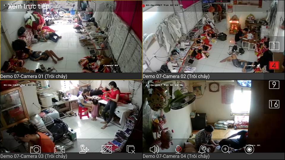 Công trình lắp đặt camera quan sát hộ gia đình sản xuất tại quận 2